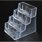 Business Card Holder 4 Tier Acrylic