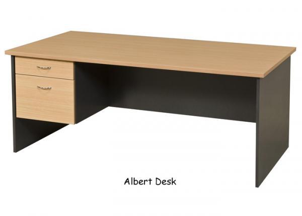 Roll Over Particle Board Desk ~ Australian made custom sizes office desks absoe