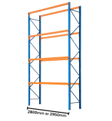 Pallet Racking Used 4877mm High (Ground plus 4 Levels of Beams)