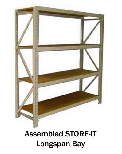 STORE-IT Longspan Shelving Assembled Unit