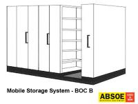 Office Mobile Storage B, 6 Bays, Brownbuilt