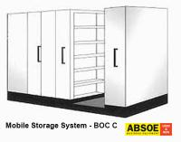 Office Mobile Storage C, 5 Bays, Brownbuilt