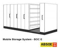 Office Mobile Storage E, 8 Bays, Brownbuilt