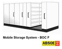 Office Mobile Storage F, 7 Bays, Brownbuilt