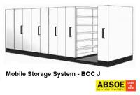 Office Mobile Storage J, 9 Bays, Brownbuilt