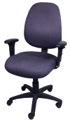 Used Clerical Chair - High Back - Gregorys - Purple