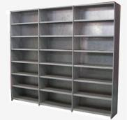 Ru Steel Shelving Acrow Run of 3 Bays